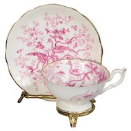 Coalport Cairo Exotic Birds Teacup & Saucer