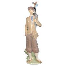 Lladro Golfer Figurine - Carrying Clubs