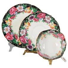 Paragon Westdale Floral Teacup, Saucer & Plate