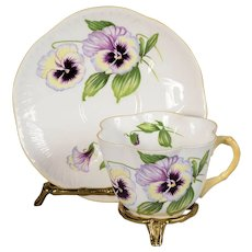 Shelley Pansy Teacup & Saucer