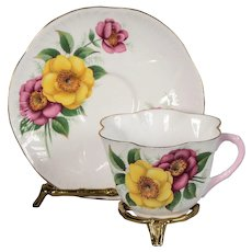 Shelley Dainty Shape Wild Roses Teacup & Saucer