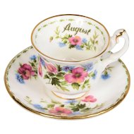 Royal Albert Flower of the Month Miniature August Cup & Saucer