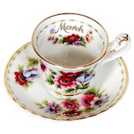 Royal Albert Flower of the Month Miniature March Cup & Saucer