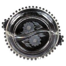 Hughes Cornflower/Candlewick Round Dish