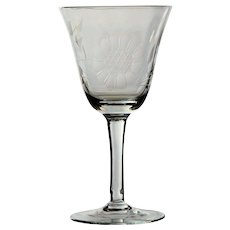 10 Hughes Cornflower Optic Wine Glasses