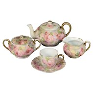 Royal Bayreuth Rose Tapestry Small Tea Set for One - CA. Early 1900