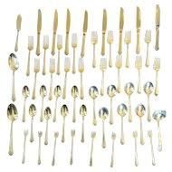Sterling Silver Heirloom Flatware Set 51 Pieces