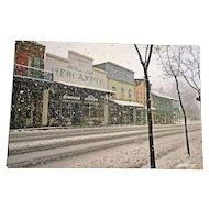 Vintage Hand Signed Framed Winter Village Photograph, RK Harrey