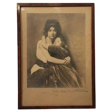 Rare Signed Caroline Reed Parsons Photograph circa late 1800s-early 1900s