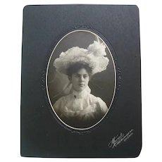 Photo of Beautiful Victorian Lady - Large Hat - Looks like a Princess