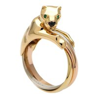 Cartier 18K Trinity Gold Panthere Ring