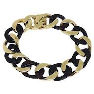 Van Cleef & Arpels 18K Yellow Gold Wood Curb Link Bracelet