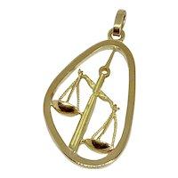 Boucheron Zodiac Sign Libra 18k Yellow Gold Pendant