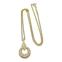 Van Cleef & Arpels 18K Yellow Gold Diamond Circle Necklace