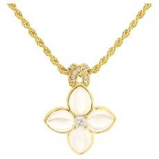 Vintage Boucheron Diamond Crystal 18K Yellow Gold Necklace