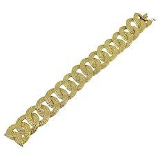 Vintage Georges Lenfant 18k Yellow Gold Link Bracelet