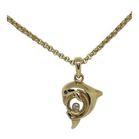 Chopard Happy Diamonds 18K Yellow Gold Dolphin Necklace