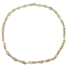 Vintage Hermes 18K Yellow Gold Chaine d'Ancre Anchors Link Necklace