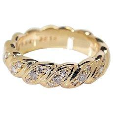 Boucheron 18k Yellow Gold Diamond Ring