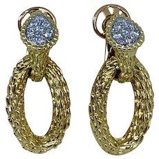 BOUCHERON 18k Yellow Gold Serpent Boheme Diamond Drop Earrings