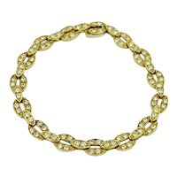Vintage Van Cleef & Arpels 18K Yellow Gold Diamond Bracelet