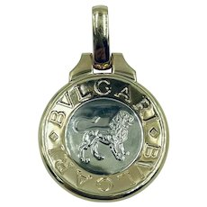 Bvlgari 18K Yellow Gold Leo Zodiac Sign Pendant