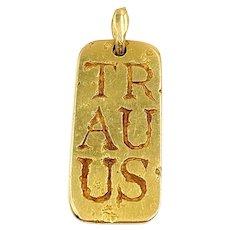 Van Cleef & Arpels 18K Yellow Gold Taurus Zodiac Sign Pendant
