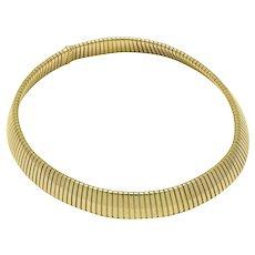 Iconic Bvlgari 18K Yellow Gold Tubogas Collar Necklace