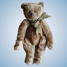 """Vintage 1986 Brown Mohair 12"""" Teddy Bear By Sarah McClellan. """"Sal's Pal's"""""""