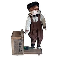 """Franklin Mint Heirloom Doll """"DANNY"""" W/Coca-Cola Danny Scooter LE"""