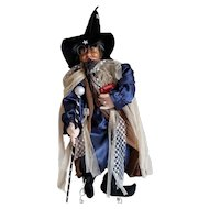 """Mystical 26"""" Tall Wizard Doll Made in Germany"""