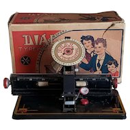 1930's Dial Typewriter Toy by Louis Marx & Co.
