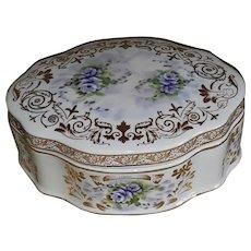 Beautiful Porcelain Vanity JEWELRY/Trinket BOX