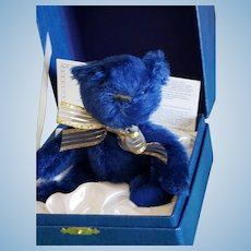 MerryThought Limited Edition Blue Sapphire 65th Anniversary Bear w/COA