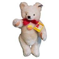 "Vintage Steiff 14"" White Mohair Bear w/All ID's and Growler 0203/36"