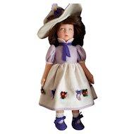 """Vintage 17"""" Lenci  Felt Doll """"PIERA"""" In Original Box W/All ID's"""