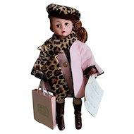 "Vintage 1997 Madame Alexander 10"" Cissette Couture Doll NRFB Coral & Leopard"