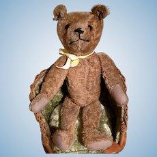 "15"" Antique Tan Mohair Teddy Bear"