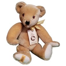"Merrythought Limited Edition Blonde Mohair Teddy Bear ""Signed"""