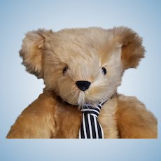"""Merrythought Limited Edition """"Yes-No"""" 18"""" Mohair Teddy Bear."""