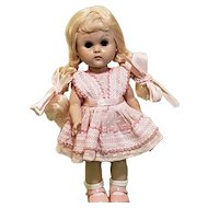 """Vintage Ginny 8"""" Walker (SLW) Doll w/Tagged Outfit."""