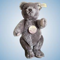 "Vintage Steiff 8&1/2"" Original Charcoal Teddy Bear w/Button, Ear Flag and Chest Tag"