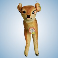 Vintage 1950's Steiff BAMBI, Mint Condition with all ID's EAN 7414,0