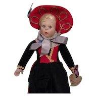 "Antique 9"" All Original Tagged Lenci Miniature Doll"