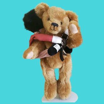 "Merrythought 12"" Mohair Teddy Bear w/Golly Back Pack"
