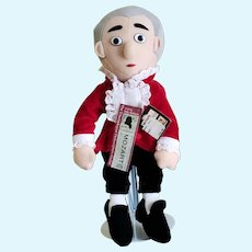 """WOLFGANG AMADEUS MOZART  Unemployed Philosopher's Guild 12"""" Musical Cloth Doll"""