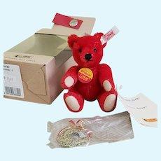 Steiff 2001 HOLLY BERRY Christmas Ornament Bear w/All Tags, COA & Box