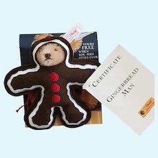 Vintage 2000 Steiff Limited Edition GINGERBREAD MAN Ornament/Teddy Bear