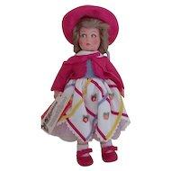 "Vintage 1985 13"" Lenci Princess Diana Felt Doll MIB w/All Papers"