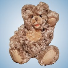 "Steiff Zotty Teddy Bear Apricot Caramel Tipped Mohair 32cm 12"" w/Button-In Ear"